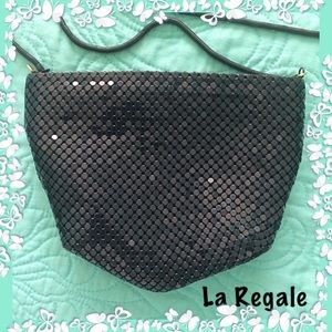 Black Mesh Crossbody Bag La Regale Vintage NWOT
